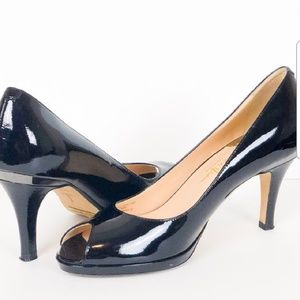 COLE HAAN Nike Air Peep Toe Patent Leather Heels